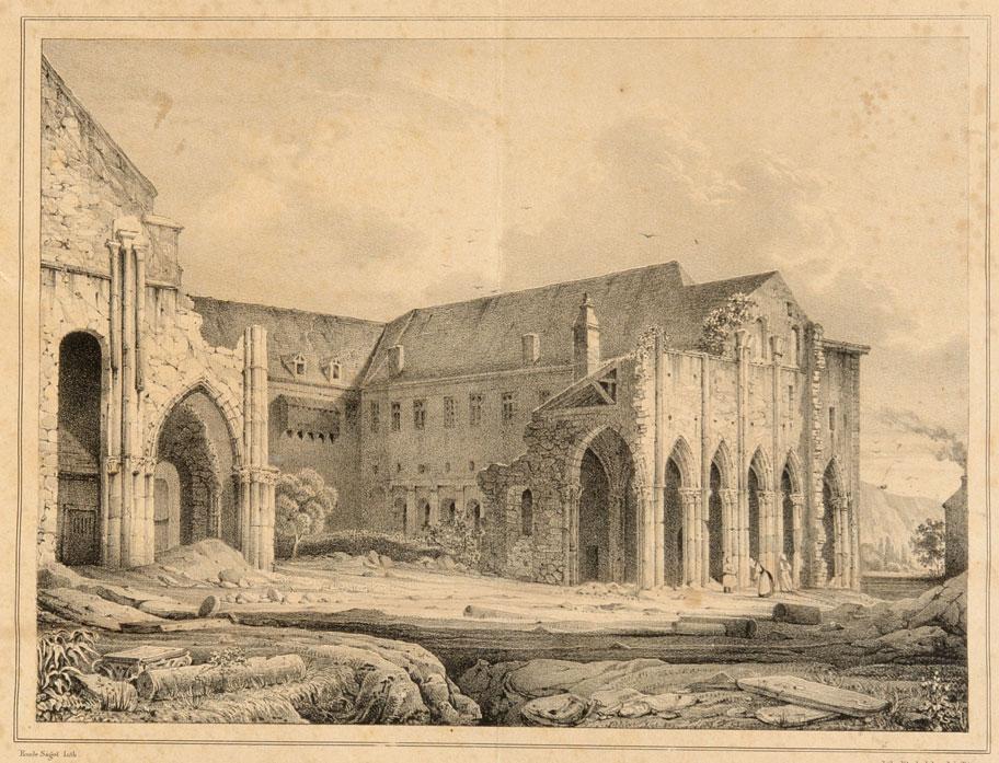 Аббатство Святого Петра во Флавиньи после Французской революции.