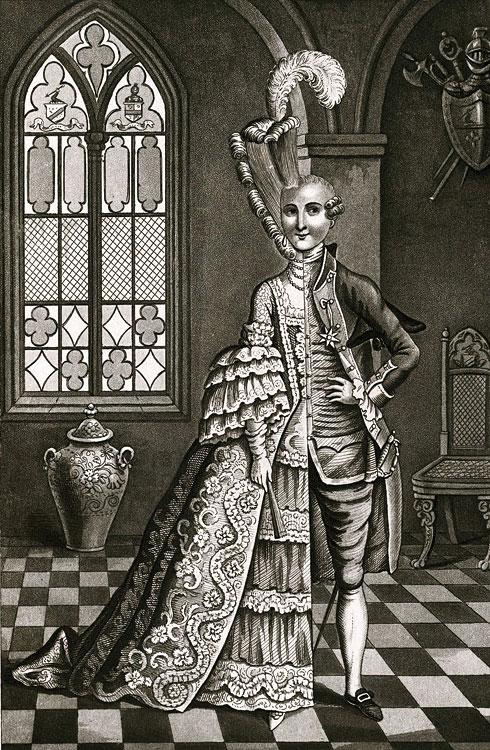 Шевалье д'Эон (1728-1810), загадочный исторический персонаж, провёл 49 лет своей жизни, одетым в мужское платье, и 33 года – в женское.