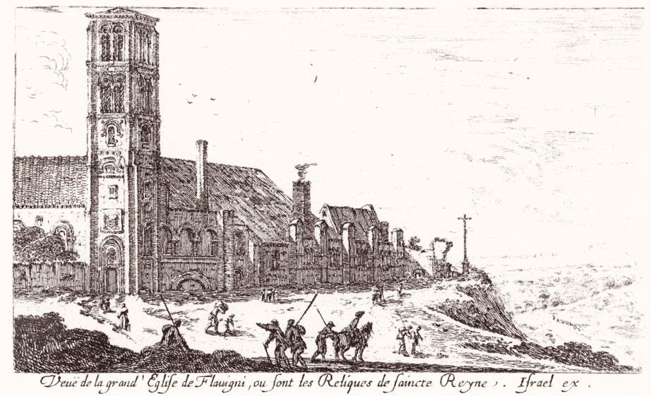 «Внешний вид большой церкви Флавиньи, где хранятся мощи святой Регины»